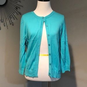 Beautiful light blue/aqua cardigan!